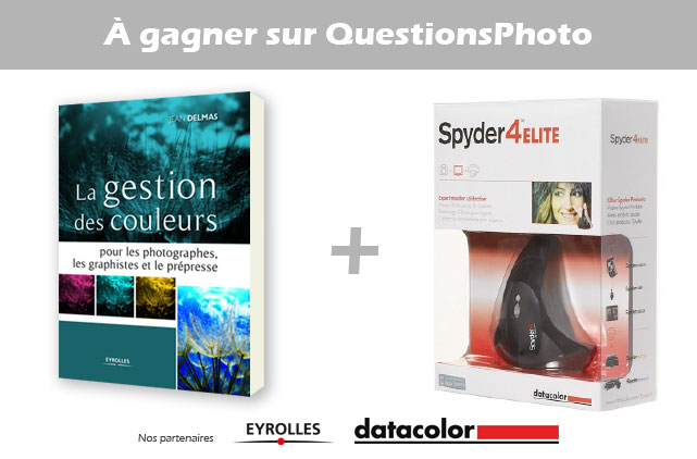 A gagner sur QuestionsPhoto : une livre Eyrolles et une Spyder4 Elite
