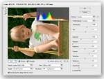 L'interface de Camera Raw 1.0, plug-in payant pour Photoshop 7, était encore très rudimentaire. Alors qu'il proposait déjà deux curseurs pour l'ajustement de la balance des blancs, Température et Teinte, il n'y avait que quatre curseurs pour ajuster la tonalité des images et un seul pour réduire ou augmenter la saturation des couleurs. Notez tout de même la présence d'un filtre anti-moiré.