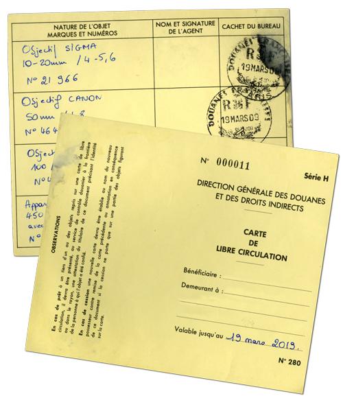 Carte de libre circulation, véritable passeport de votre matériel – et de n'importe quelle marchandise.