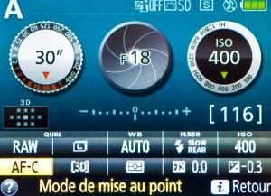 nikon d3300 mode autofocus